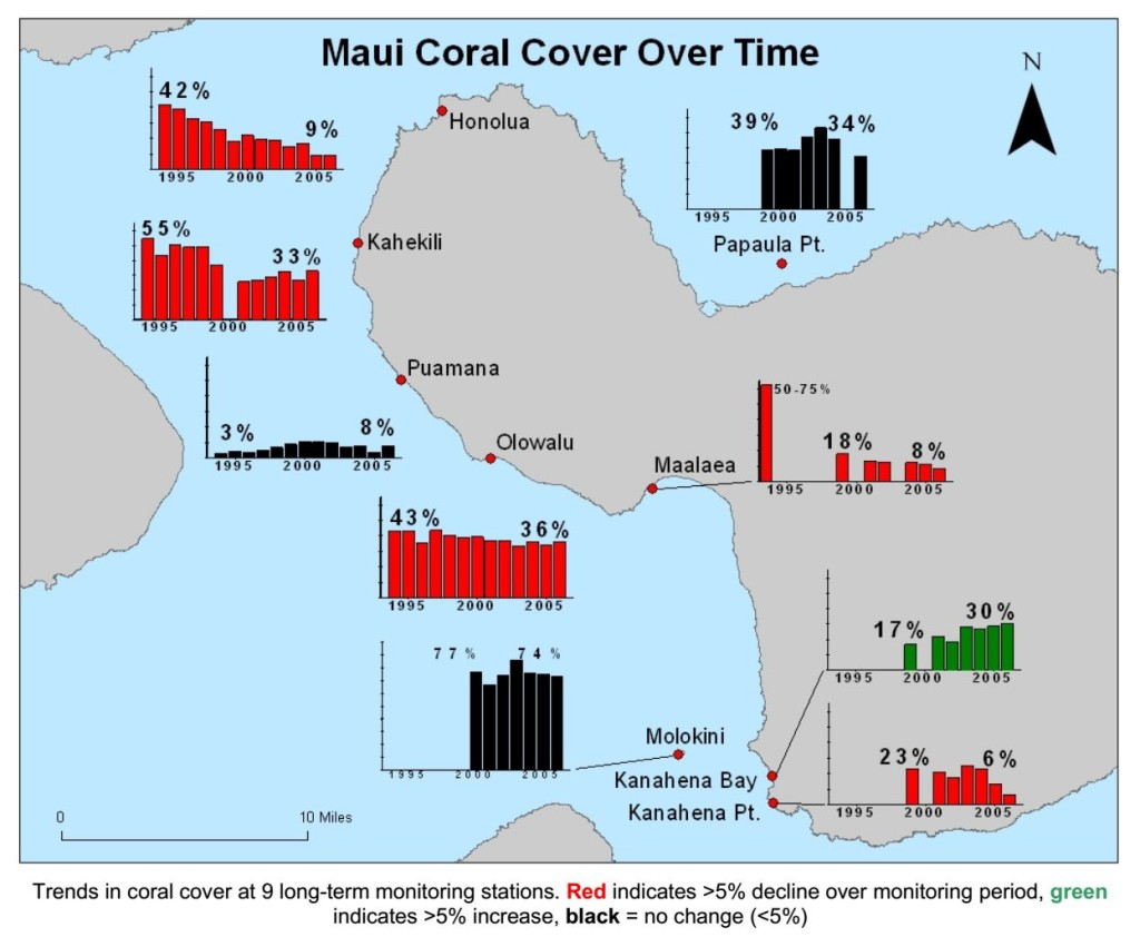Maui Coral Cover Over Time